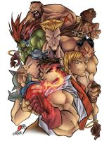 street fighter poster by F-E-R-S