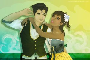 After Party with Korra and Bolin by thirdmirage