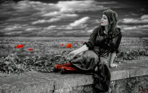 Red Boots in a Poppyfield by Wimmeke63