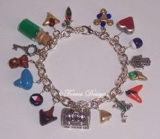 HandScuplted Custom Ocarina of Time Charm Bracelet by TorresDesigns