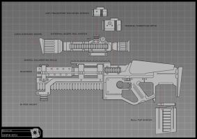Concept Art RIDDICK AoDA - Sniper rifle by torvenius