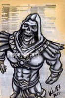 Skeletor Original Painting Dictionary Art by Undead-Art