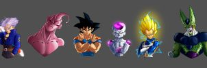 Dragonball Z Bust Collection by albundyland
