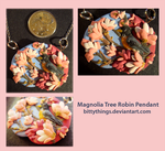 Magnolia Tree Robin Pendant - SOLD by Bittythings