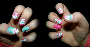 candy cane nails by IdaBlack
