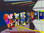 Minerva and Friends on the Starship 2000 by tpirman1982