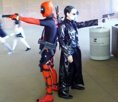 dallas  fandays trinity and deadpool cosplay by drakewl75