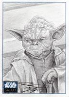 Star Wars G6 - Yoda Sketch Art Card by DenaeFrazierStudios