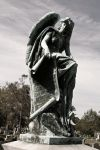 Weathered copper Angel B/W by DonLeo85