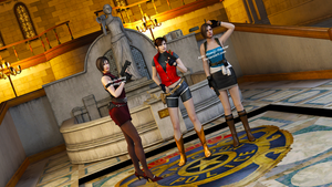 Raccoon City Ladies Render by Ada-Momiji-Forever