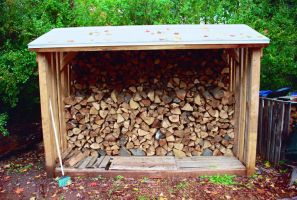 Autumn Wood Pile by Chaindive