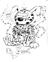 Marsupilami Sketch by Chukkz