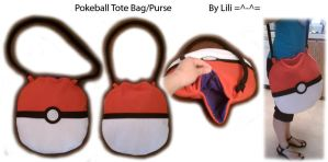 Pokeball Tote Bag Purse by LiliNeko