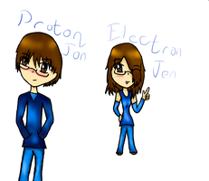 ProtonJon and ElectronJen by Anime-Gamer-Girl