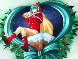 Christmas Miku 2012 by Eroji