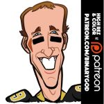 Drew Brees by b1naryg0d