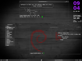 Debian_Fluxbox by cagwait