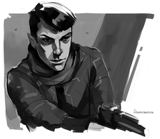 Spock Sketch from Into Darkness Promo by feyuca