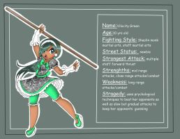 Pre-Teen Street Fighters: Vilocity Green by jazzy2cool