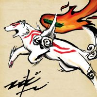 Art Trade: Okami by ziksan