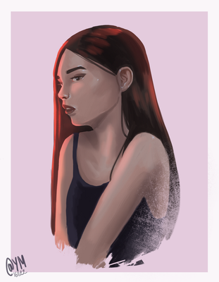 Sunset girl by ArtOfAyanami