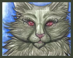 Watercolor Kitty by Blattaphile
