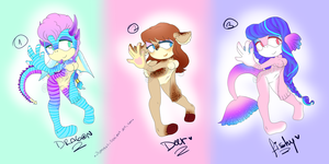 Female Sonic Adopts Auction OPEN by Arii--Adopts