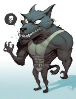 jacked wolf by cliff-rathburn