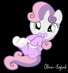 Sweetie Belle in Diapers (Happy) by Oliver-England