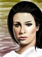 Lea michele portrait by Faberry-shipper