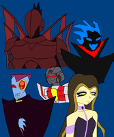 Random Villain Peeps by lady-warrior