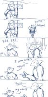 Osten - Shark guy and a Lollipop (comic) by Draconica5