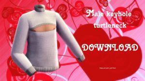 Male keyhole turtleneck sweater DOWNLOAD by YamiSweet