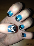 Starfleet Science Nails by NScole