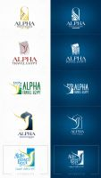 alpha travel logo by boyasseen