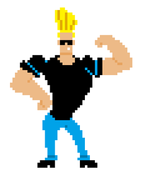 Johnny Bravo by TheRedNightDog