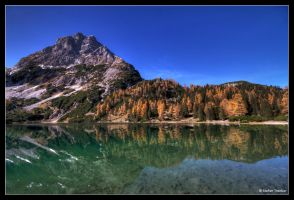 Reflection in the Seebensee by stetre76