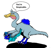 Daffy the Deinocheirus by DinoBirdMan