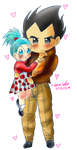 Vegeta and Bulla~ by dbz-senpai