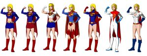 Super Girl / Power Girl, Young Justice Style by Majinlordx