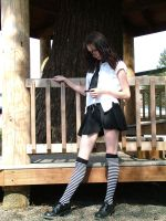 sunny schoolgirl 1 by JensStockCollection