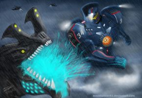 Pacific Rim: Gipsy vs Otachi by Mechformer93