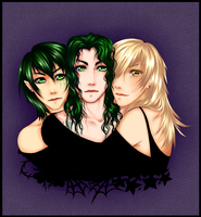 Family Of Dark Hearts by bunbunberry
