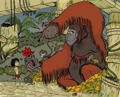 Mowgli and King Louie by thisupers