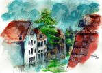 watercolour doodle: View by Kaizoku-hime