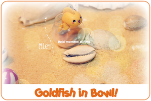 Kawaii Goldfish in Bowl! by GigixCandy