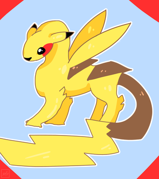 Doodle: Pika-dragon by Mahepii