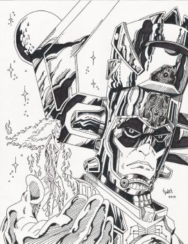 Galactus and Nova Ink by TyndallsQuest