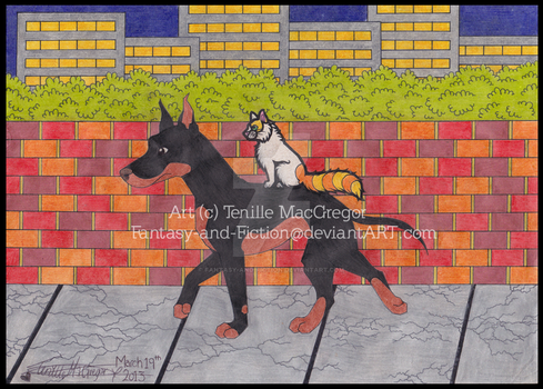 Wherever it takes us -Art-Trade with LolaTheSaluki by Fantasy-and-Fiction