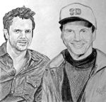 Johnny and Super Dave by cgrusco